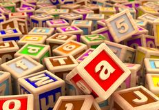Play Blocks Stock Photo