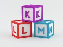 Play Blocks - ABC. Play Blocks with the ABC alphabet Stock Illustration