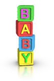 Play Blocks : BABY Stock Photo