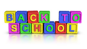 Play Blocks : BACK TO SCHOOL Royalty Free Stock Photo
