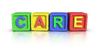 Play Blocks : CARE Stock Image