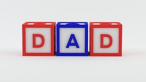 Play blocks - Dad Royalty Free Stock Photo