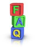 Play Blocks : FAQ Royalty Free Stock Images