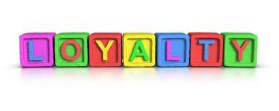 Play Blocks : LOYALTY Stock Photo
