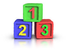 Play Blocks - Numbers. 3D numbers play block made with plasticine material stock illustration