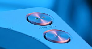 Play Button. Professional CD / DVD player Button stock photo