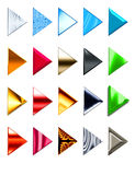 Play Button. A wide variety of play buttons for web and programs Stock Images