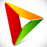 Play button / generic arrow, pointer, cursor icon or logo Stock Photo