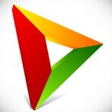 Play button / generic arrow, pointer, cursor icon or logo Royalty Free Stock Photography