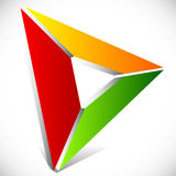 Play button / generic arrow, pointer, cursor icon or logo Stock Image