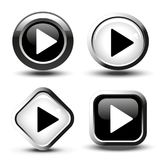 Play button icon Royalty Free Stock Images