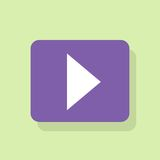 Play button icon flat design vector. Illustration Stock Photo