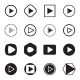 Play button icons. Vector illustration Stock Image