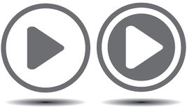 Play button. An illustration of a gray button with play symbol Stock Images