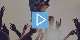 Play Button Multimedia Entertainment Beginning Concept Royalty Free Stock Photography