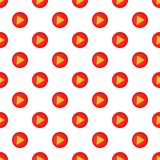 Play button pattern, cartoon style. Play button pattern. Cartoon illustration of play button vector pattern for web Stock Photo