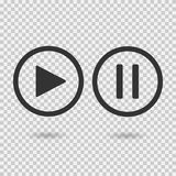 Play button and pause button.  Royalty Free Stock Images