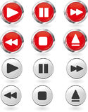 Play button set Royalty Free Stock Images