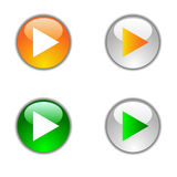 Play buttons. Royalty Free Stock Images