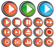 Play buttons Stock Photo