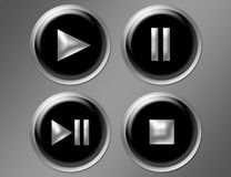 Play Buttons Stock Photography
