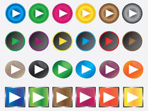 Play buttons Royalty Free Stock Photography