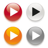 4 Play Buttons Royalty Free Stock Images