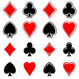 Play card's signs vector-icon Stock Images