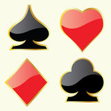 Play Card Symbols. Vector illustration of play card symbols Stock Image