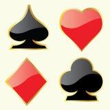 Play Card Symbols Stock Image