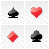 Play card symbols Royalty Free Stock Images
