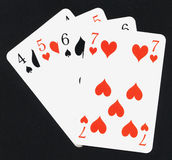Play cards. Four play cards royalty free stock images