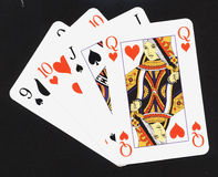 Play cards. Some red and black play cards stock photography