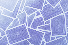 Play cards blue back texture Stock Photography