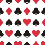 Play cards pattern Stock Photography