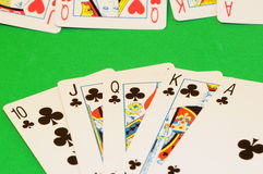 Play cards - Royal Flush Stock Photography
