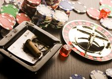 Play in the casino Royalty Free Stock Photo