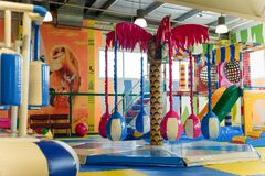 Play center for children with different activities, toys and attrations. Entertainment concept