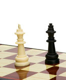 Play chess black against white Stock Photography