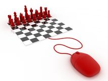 Play Chess online Stock Images