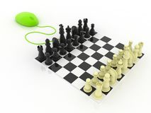 Play Chess online Royalty Free Stock Photo