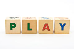 Play childrens blocks Stock Photo