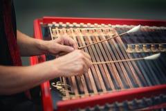 Play the cimbalom Royalty Free Stock Photography