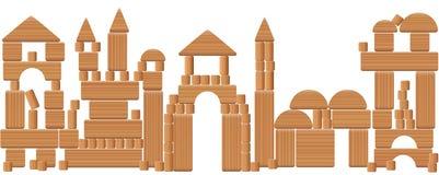 Play City Wooden Blocks Royalty Free Stock Photography