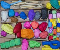 Play Clay work place. royalty free stock image