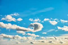 Play of clouds Royalty Free Stock Photo