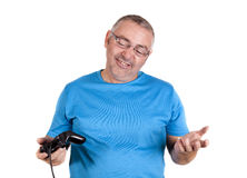 Play console man Royalty Free Stock Image