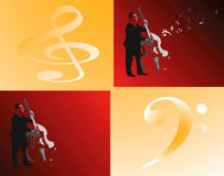 Play Contrabas. Stock Images