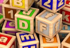 Play Cube. Play Blocks (computer generated image Royalty Free Illustration