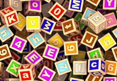 Play Cube (Seamless) Stock Images